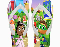 Chinelo Personalizado Super Why!