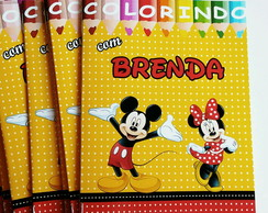 Livro de Colorir Minnie e Mickey