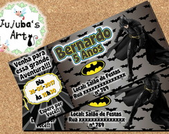 Arte Digital Convite Ingresso Batman