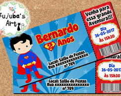 Arte Digital Convite Ingresso Superman