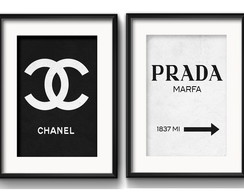 2 Quadros Chanel Prada Fashion Paspatur