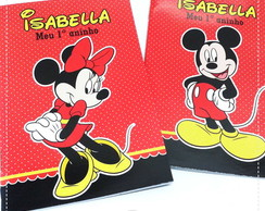 Kit Colorir Minnei e Mickey {Lapela}