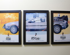 3 Quadros Back To The Future + Brinde