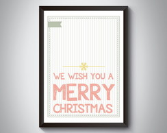 "Quadro ""We Wish You a Merry Christmas"""