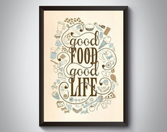 "Quadro ""Good Food Good Life"""