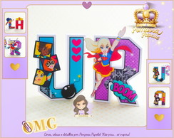 Letras 3D DC Super Hero Girls