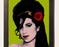 Quadro c.moldura Amy Winehouse