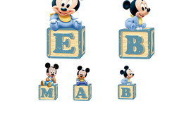 KIT DISPLAY MICKEY BABY - MDF