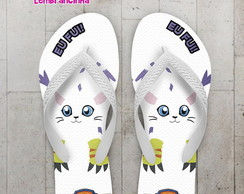 Chinelo Digimon Personalizado