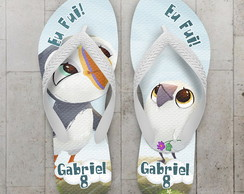 Chinelo Infantil Puffin rock