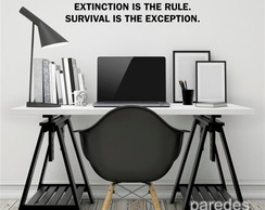Adesivo Frase Extinction is the rule