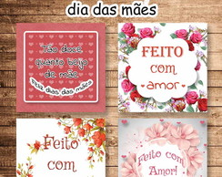 Kit tags dia das mães
