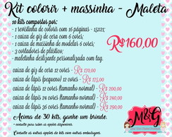 10 Kits Colorir + Massinha - Maletinha