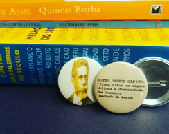 kit (2) Bottons: Machado de Assis
