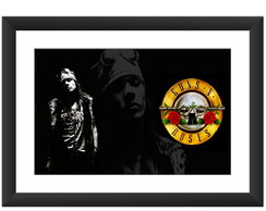 Quadro Guns N Roses Banda Rock Axl Music