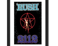 Quadro Rush 2112 Banda Rock Decoracao