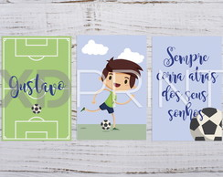 Placa Decorativa -KIT Infantil Futebol