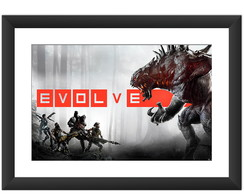 Quadro Evolve Jogos Pc Video Game Serie