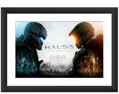 Quadro Halo 5 Guardians Games Combate Pc