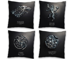 Kit 4 Capas de Almofada Game of Thrones