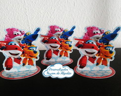 Aplique 3d latinha Super Wings