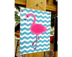 Placa Flamingo Chevron 15x20