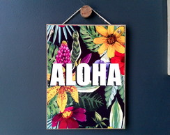 Placa ALOHA Tropical 15x20