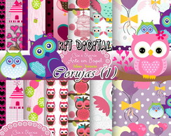 kit digital corujas (1) scrapbook