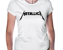Camiseta Baby Look Metalica