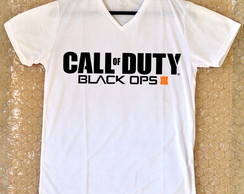 Camiseta Tradicional Gola V Call of Duty