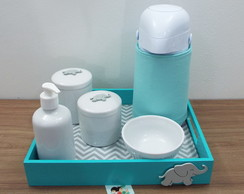 Kit Higiene Elefante Chevron e Tiffany