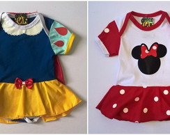 Body Branca de Neve+ Minnie Branca
