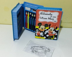 estojo de pintura mickey e minnie