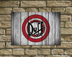 "Placa Decorativa ""Duff"""