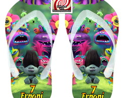 Trolls Chinelo Personagem Branch Brinde