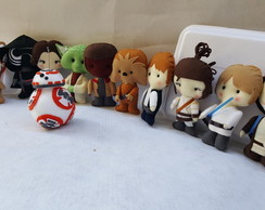 Kit Star Wars com 7 personagens