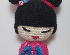 Boneca feita em Amigurumi chaveiro no Elo7 | Quanto mais Crochê ... | 194x244