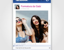 Placa Facebook - ARTE DIGITAL