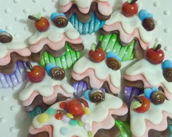 Aplique cupcake pintura country