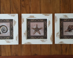 Kit de 3 Quadros Decorativos Vintage