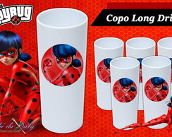 Copo Long Drink - Miraculous Lady Bug