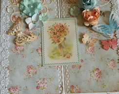 Álbum Scrapbook Shabby Chic flores Perso