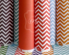 Papel scrap chevron tijolo