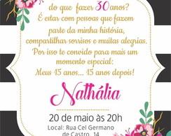 Convite Aniversario 30 Anos Masculino Elo7