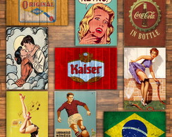 Placas decorativas Vintage 30x20cm