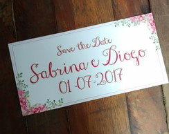 Placa Save the Date personalizada