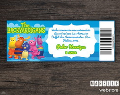 Convite Ingresso Digital Backyardigans