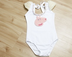 Collant Peppa branco