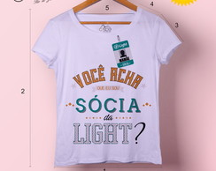 T-shirt feminina Sócia da Light