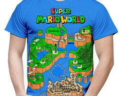 Camiseta Masculina Super Mario World